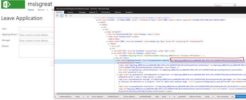 Resolve people picker control using jQuery – Senthamil