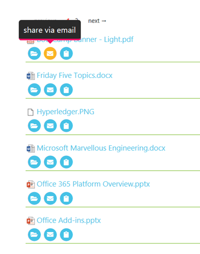 jQuery based Followed Documents list with animation and pagination
